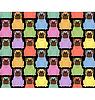 Lustige farbige Hunde. Nahtlose Hintergrund