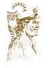 Alte Seemann mit einer Katze