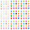 Vektor Cliparts: Auf die Pins Symbol in flachen Stil unterzeichnen