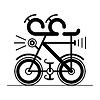 Vektor Cliparts: Fahrrad-Fahrrad-Symbol