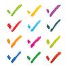 Vektor Cliparts: Brushstroke Häkchen Zeichen