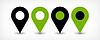 Grüne flache map pin Zeichen Standort-Symbol mit Schatten