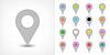 Векторный клипарт: Серый карта контактный значок знак с тенью