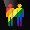 Векторный клипарт: Цвет однополый брак гомосексуальный плоский значок