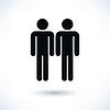 Векторный клипарт: Гей-брак гомосексуальный черный значок