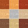 Vektor Cliparts: Set Farbe Holz Textur