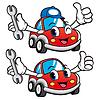 Allein Auto hält Schlüssel. Auto-Maskottchen | Stock Vektrografik