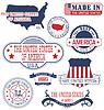 US-generic Stempel und Schilder