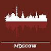 Skyline von Moskau, Russland