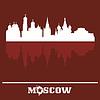 Skyline von Moskau Kreml, Russland