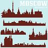 Set von Moskau Skylines