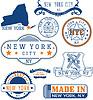 New York City, generische Stempel und Schilder