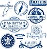 Gattungsmarken und Zeichen von Manhattan Stadtbezirk, NYC