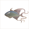 Vektor Cliparts: Fabulous fantastische Fisch zart lila Farbtöne