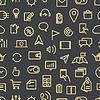 Moderne Geräte Piktogramme nahtlose Hintergrund