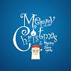 Frohe Weihnachten dekorative Grußkarte
