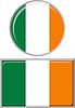 Irish runden und quadratischen Icon Flagge.