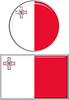 Maltese runden und quadratischen Icon Flagge.