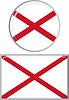 Nordirland runden und quadratischen Icon Flagge.