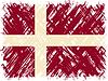 Danish Grunge-Flag.