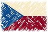 Tschechische Grunge-Flag.