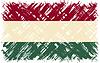 Ungarische Grunge-Flag.