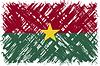 Burkina Faso-Grunge-Kennzeichen.