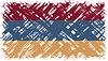 Armenian Grunge-Flagge.