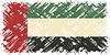 Vereinigte Arabische Emirate Grunge-Flagge.