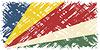 Seychellen-Grunge-Kennzeichen.