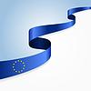 Europäische Union Flagge Hintergrund.