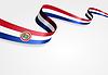 Paraguayischen Flagge Hintergrund.