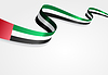 Vereinigte Arabische Emirate Flagge Hintergrund.
