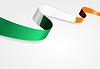 Irischer Flagge Hintergrund.
