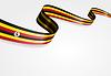 Ugandische Flagge Hintergrund.