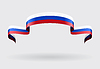 Russian flag background.  | 向量插图