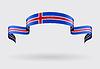 Isländische Flagge Hintergrund.