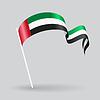 Vereinigte Arabische Emirate wellig Flagge.