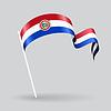 Paraguayischen wellig Flagge.
