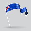 Australian wellig Flagge.