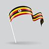 Ugandischen wellig Flagge.