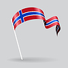 Norwegian wellig Flagge.