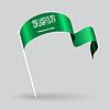 Saudi Arabian wellig Flagge.