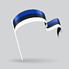 Estonian wellig Flagge.