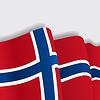 Norwegian wehende Flagge.