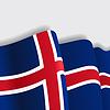 Icelandic wehende Flagge.