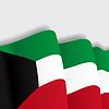 Kuwait wehende Flagge.