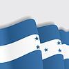 Honduras wehende Flagge.