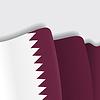 Qatari wehende Flagge.