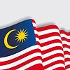 Malaysian wehende Flagge.